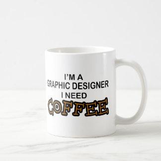 Caneca De Café Café da necessidade - designer gráfico