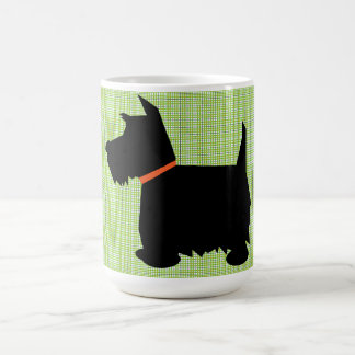 Caneca De Café Café da silhueta do cão de Terrier do Scottish,