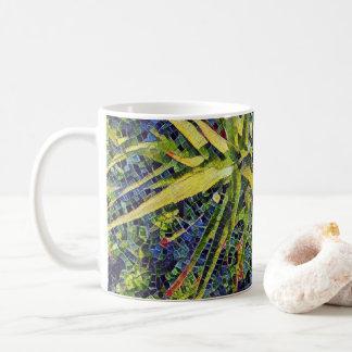 Caneca De Café Café estilizado do aloés do mosaico/caneca do chá