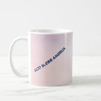 Caneca De Café Café Mug-2 de América dos deus abençoe