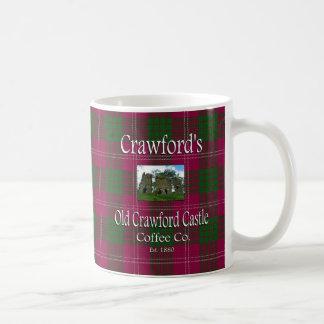 Caneca De Café Café velho Co. do castelo do Crawford de Crawford