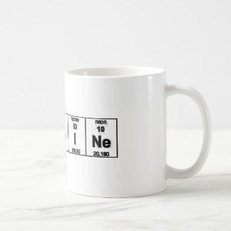 Caneca De Café Cafeína da mesa periódica