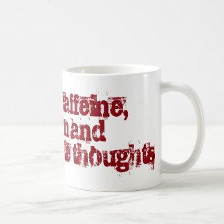Caneca De Café Cafeína e pensamentos impróprios