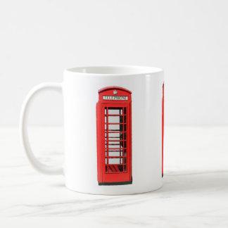 Caneca De Café Caixa de telefone BRITÂNICA do estilo do Victorian