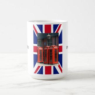 Caneca De Café Caixas de telefone vermelhas de Londres