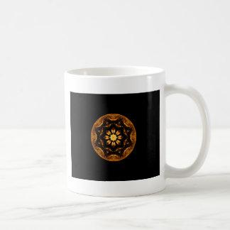 Caneca De Café Caleidoscópio da roda do navio da estrela da flor