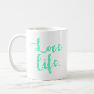 Caneca De Café Caligrafia da vida do amor