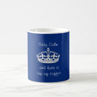Caneca De Café Calma da estada -- Chávena de café