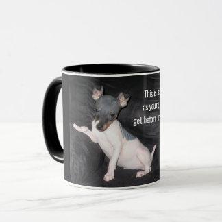 Caneca de café calva americana de Terrier - cão