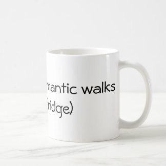 Caneca De Café Caminhadas românticas longas - engraçadas