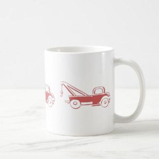 Caneca De Café Caminhão de Wrecker vermelho retro
