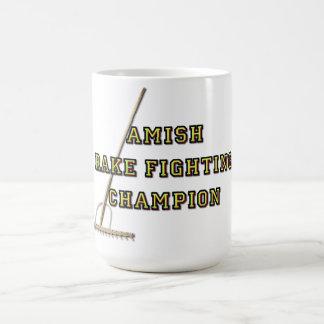 Caneca De Café Campeão de combate do ancinho de Amish