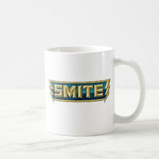 Caneca De Café Campo de batalha do logotipo do SMITE dos deuses