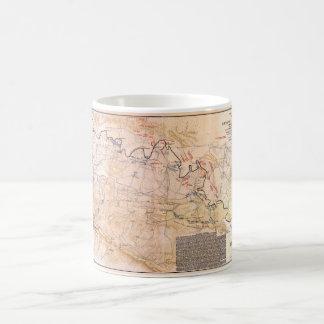 Caneca De Café Campo de batalha do mapa da guerra civil de