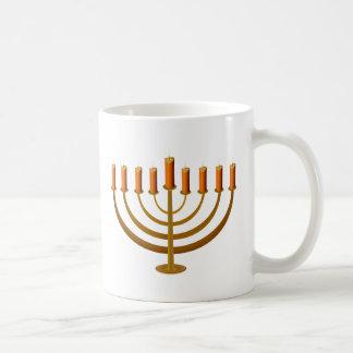 Caneca De Café candles o castiçal hanukkah do castiçal judaico
