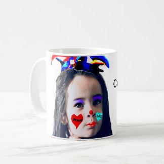 """Caneca De Café """"Caneca customizável da foto do palhaço bonito"""""""