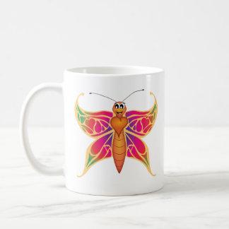 """Caneca De Café """"Caneca da borboleta do selo pequeno do amor do"""
