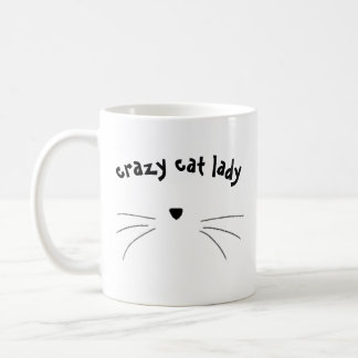 """Caneca De Café """"caneca da senhora louca do gato"""""""