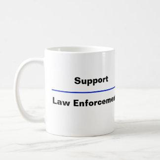 """Caneca De Café """"Caneca de café da polícia de Blue Line fino"""""""