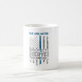 """Caneca De Café """"Caneca de café fina de Blue Line da matéria azul"""