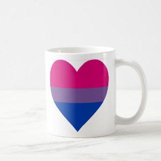 """Caneca De Café """"Caneca do coração bissexual"""""""