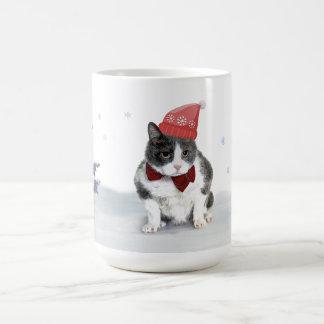 Caneca De Café Caneca: Felix, o gatinho, em janeiro