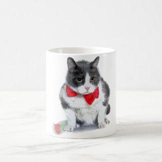 Caneca De Café Caneca:  Felix, o gato, em fevereiro
