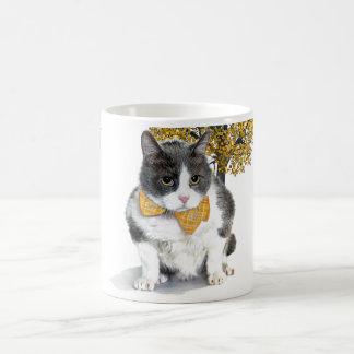 Caneca De Café caneca:  Felix, o gato, em outubro