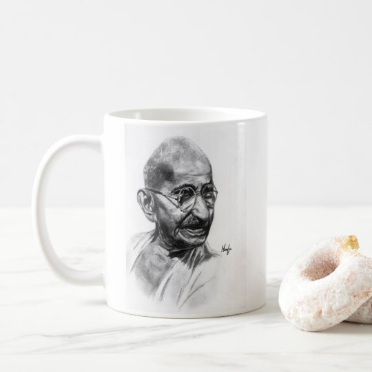 Caneca De Café caneta Mahatma Gandi
