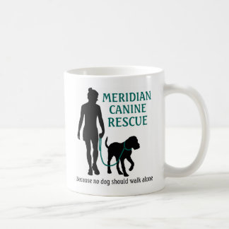 Caneca de café canina meridiana do logotipo do