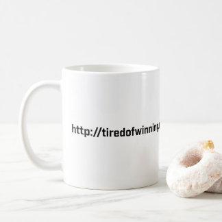 Caneca de café - cansado de ganhar o RU