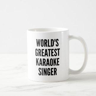 Caneca De Café Cantor do karaoke dos mundos o grande