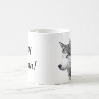 Caneca De Café Cão dos roucos Siberian, Momma ronco