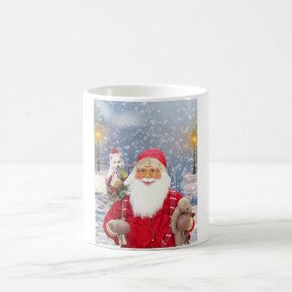 Caneca De Café Cão Eskimo americano dos presentes do Natal de