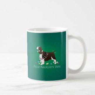 Caneca De Café Cão impertinente de Feliz do cão do Spaniel de