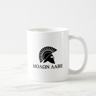 Caneca De Café Capacete espartano Molon Labe