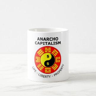 Caneca De Café Capitalismo de Anarcho - vida, liberdade,