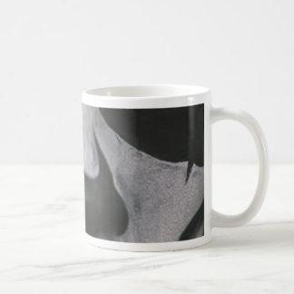 Caneca De Café Cara assustador preta & branca…