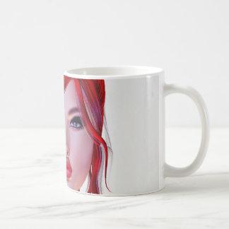 Caneca De Café Cara da menina misteriosa