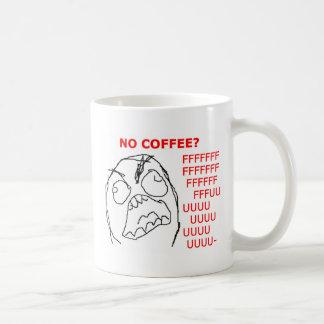 Caneca De Café Cara da raiva nenhum café
