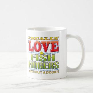 Caneca De Café Cara do amor dos dedos de peixes