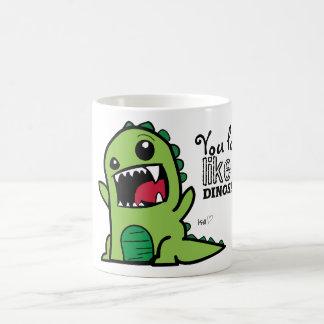 Caneca De Café Cara do dinossauro