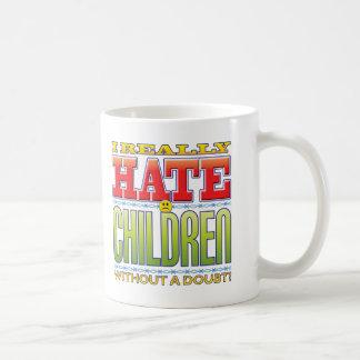 Caneca De Café Cara do ódio das crianças