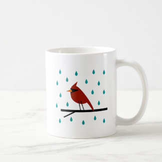 Caneca De Café Cardeal na chuva