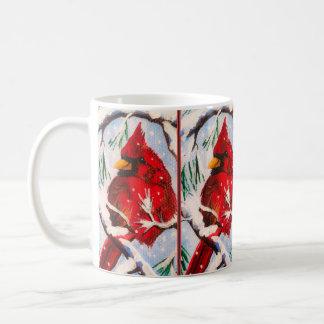 Caneca De Café Cardeal no copo vermelho