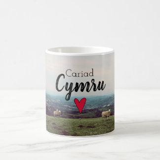 Caneca De Café Carneiros da fazenda de Galês da paisagem de Wales