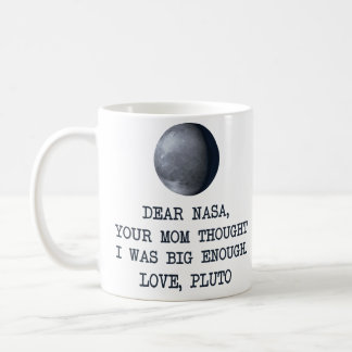 Caneca De Café Caro amor Pluto da NASA