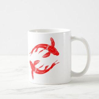 Caneca De Café Carpa vermelha dos peixes de Koi