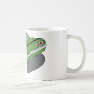 Caneca De Café Carro americano verde do músculo