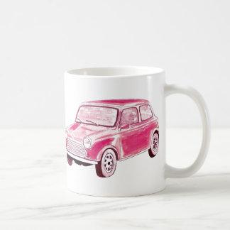 Caneca De Café Carro cor-de-rosa do vintage